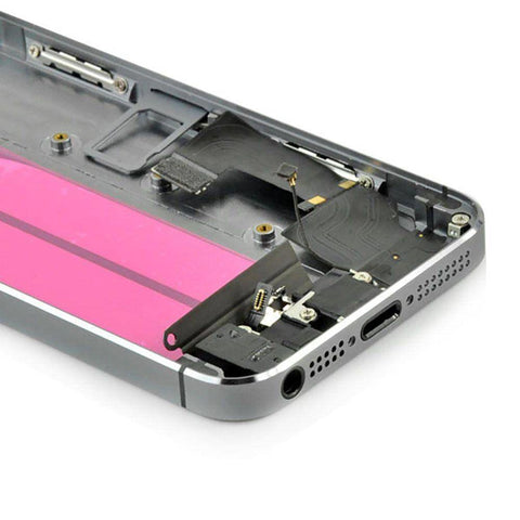 New iPhone 5S Back Housing Mid Frame Assembly with Cables Parts tools - Gray - Housing Assembly
