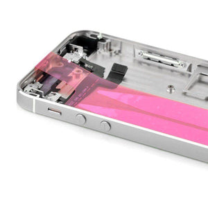 New iPhone 5S Back Housing Mid Frame Assembly with Cables Parts tools - Silver - Housing Assembly