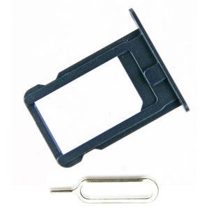 New Original iPhone 5 SIM Card Tray Holder with Eject Tool - Black - SIM Card Tray