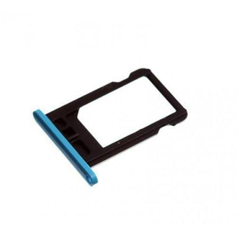 Image of New Original iPhone 5C SIM Card Tray Holder with Eject Tool - Blue - SIM Card Tray
