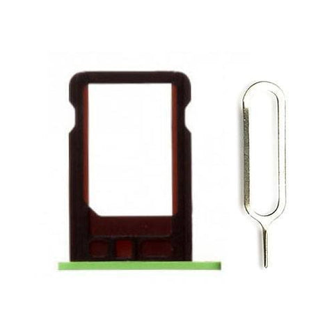 Image of New Original iPhone 5C SIM Card Tray Holder with Eject Tool - Green - SIM Card Tray