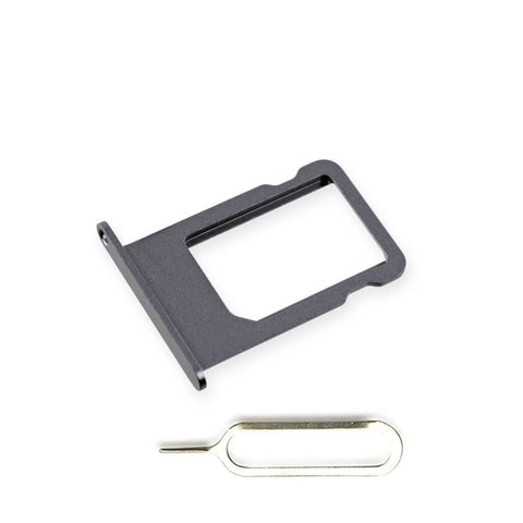 New Original iPhone 5S SE SIM Card Tray Holder with Eject Tool - Black - SIM Card Tray