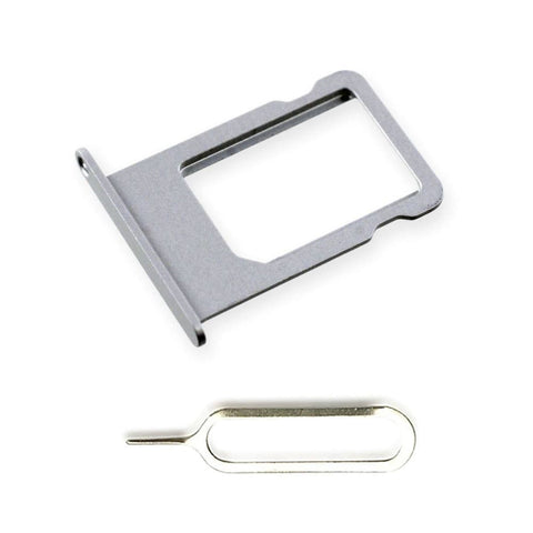 New Original iPhone 5S SE SIM Card Tray Holder with Eject Tool - Silver - SIM Card Tray