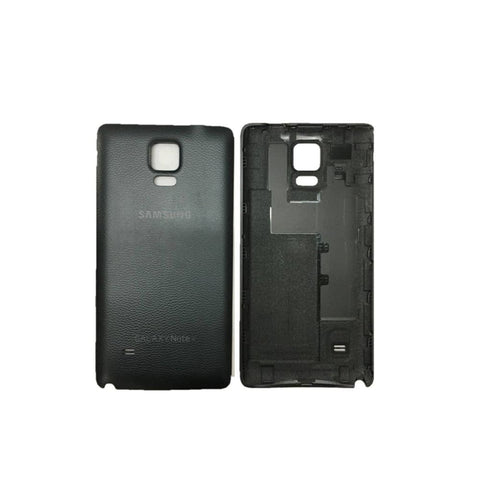 Image of New Samsung Galaxy Note 4 Back Battery Door Cover - Black - Battery Covers