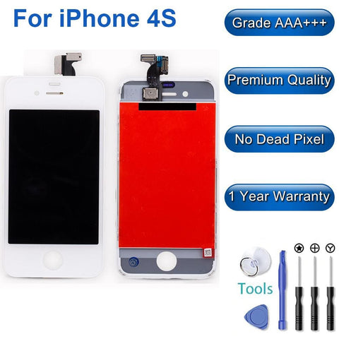 Image of New Touch Screen LCD Digitizer Replacement Assembly for iPhone 4S - White - LCD's & Digitizers