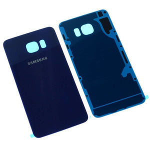OEM Samsung Galaxy S6 Rear Back Glass Battery Cover Door with Adhesive - Blue - Battery Covers