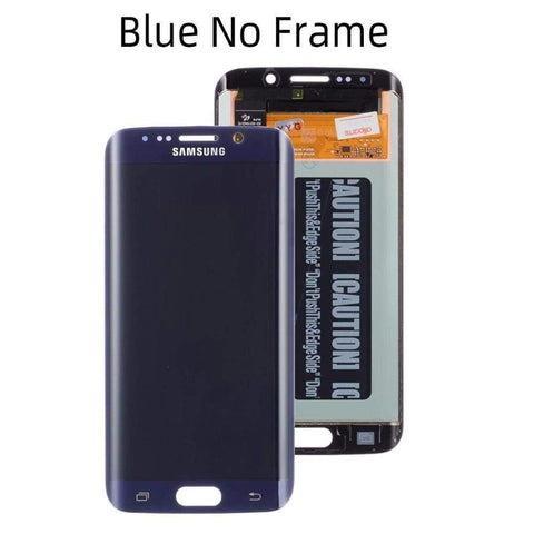 OLED LCD Touch Screen Digitizer for Samsung Galaxy S6 Edge G925W8 G925A G925F - Blue No Frame - LCDs & Digitizers