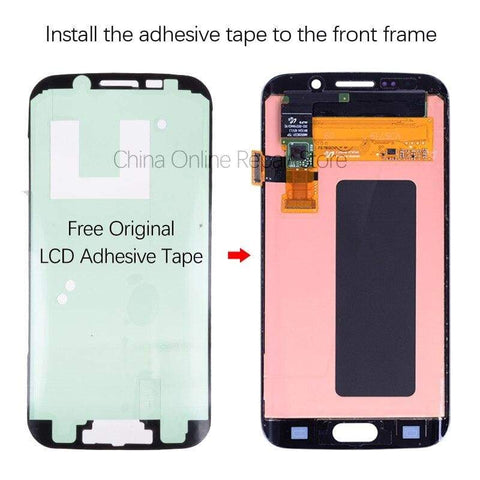OLED LCD Touch Screen Digitizer for Samsung Galaxy S6 Edge G925W8 G925A G925F - LCDs & Digitizers
