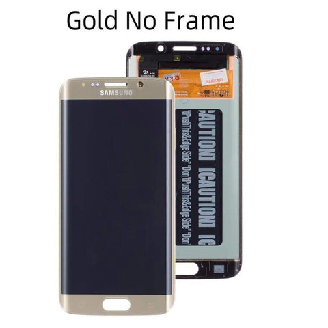 OLED LCD Touch Screen Digitizer for Samsung Galaxy S6 Edge G925W8 G925A G925F - Gold No Frame - LCDs & Digitizers