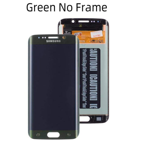 OLED LCD Touch Screen Digitizer for Samsung Galaxy S6 Edge G925W8 G925A G925F - Green No Frame - LCDs & Digitizers