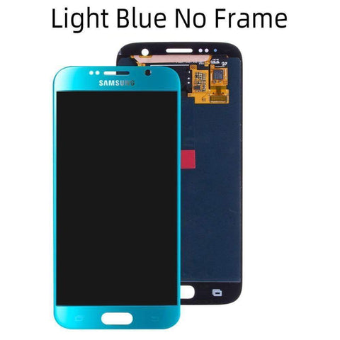 OLED LCD Touch Screen Digitizer for Samsung Galaxy S6 G920W8 G920A G920F - Light Blue No Frame - LCDs & Digitizers