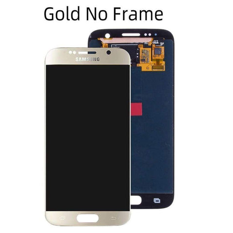 OLED LCD Touch Screen Digitizer for Samsung Galaxy S6 G920W8 G920A G920F - Gold No Frame - LCDs & Digitizers