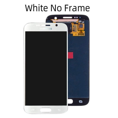 OLED LCD Touch Screen Digitizer for Samsung Galaxy S6 G920W8 G920A G920F - White No Frame - LCDs & Digitizers