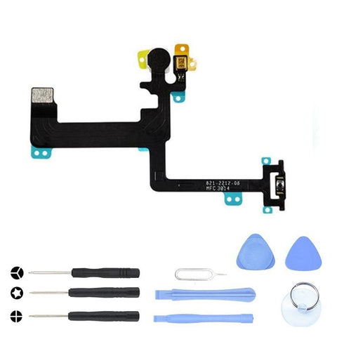 Image of On Off Power Button Control Sensor Flex Cable for iPhone 6 A1549 A1586 A1589 - With Tool Kit - Power Switch