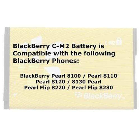 Image of Original Blackberry CM2 C-M2 battery for Pearl 8100 8110 8120 8130 8220 8230 - Batteries