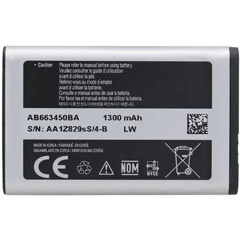 Image of Samsung Rugby 2 II SGH-A847 Rugby 3 III A997 battery 1300 mAh - Batteries