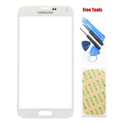 Image of Original Samsung Galaxy S6 White Front Glass Lens with Adhesive and Free Tools - Front Glass