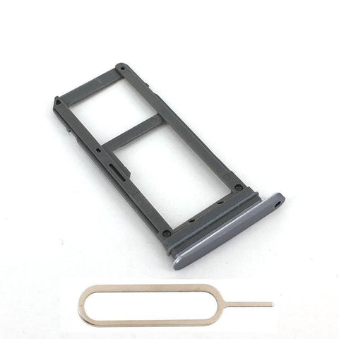 Original Samsung Galaxy S7 SIM Card Tray Holder with Eject Tool - Gray - SIM Card Tray
