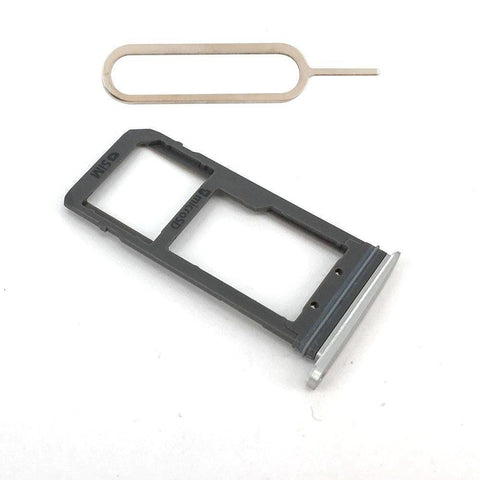 Original Samsung Galaxy S7 SIM Card Tray Holder with Eject Tool - Silver - SIM Card Tray
