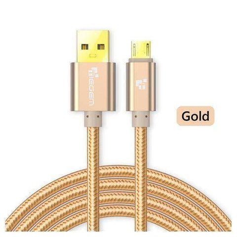 Original TIEGEM Heavy Duty Fast Charging Micro USB Charger Cable 1M 2M 3M - Gold / 1M (3ft) - Charging Cables
