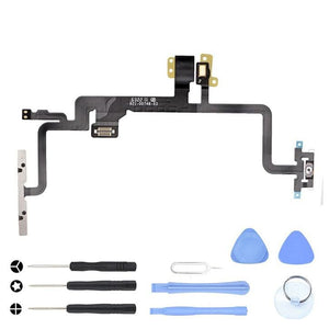 Power On Off Volume Control Mute Button Flex for iPhone 8 A1863 A1905 A1906 - Power Switch