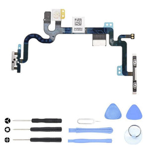 Power Volume Control Mute Button Flex Cable for iPhone 7 A1660 A1778 A1779 - With Tool Kit - Power Switch