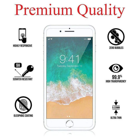 Premium Tempered Glass Screen Protector for iPhone 8 7 & iPhone 6S 6 (4.7) - Accessories