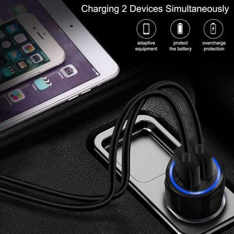 Image of QC 3.0 Car Charger Quick Charge Dual Car Charger Fast Charging Adapter Mini USB - Accessories