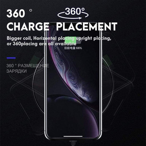 Qi Fast Wireless Charger 10W/7.5W QC 3.0 for iPhone 11 X XR XS Max Samsung - Wireless Chargers