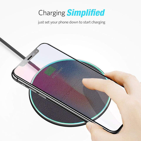 Image of QI Wireless Charger 10W for iPhone X 8 Plus XR XS Max For Samsung S8 S9 S10 - Wireless Chargers