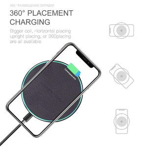 QI Wireless Charger 10W for iPhone X 8 Plus XR XS Max For Samsung S8 S9 S10 - Wireless Chargers