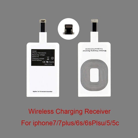 Image of Qi Wireless Charger Adapter Charging Receiver Type-C Micro USB iPhone - Wireless Chargers
