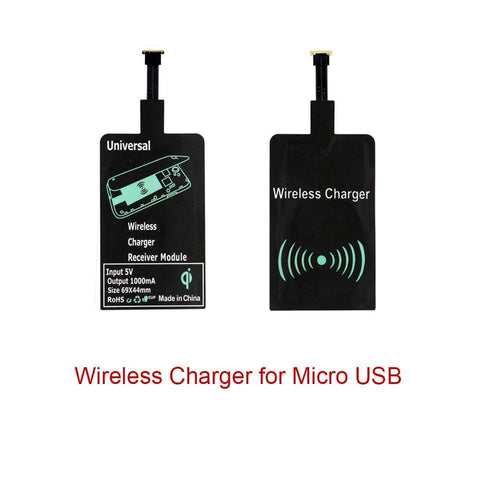 Qi Wireless Charger Charging Pad + Receiver Kit + Adapter For iPhone and Android - Wireless Chargers