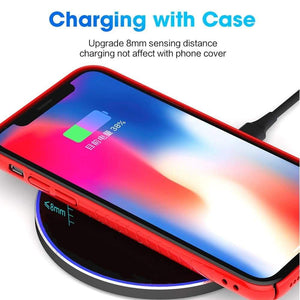 Qi Wireless Charger USB C 15W Fast Charging Pad Quick Charge For iPhone Samsung - Wireless Chargers
