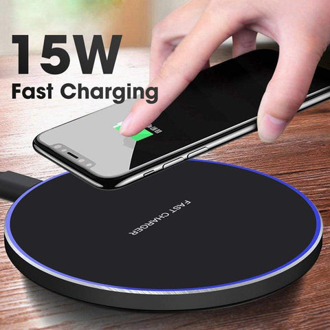 Image of Qi Wireless Charger USB C 15W Fast Charging Pad Quick Charge For iPhone Samsung - Wireless Chargers