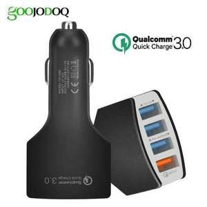Quick Charge 3.0 Car Charger USB C Power Delivery PD Port 3.5A Port - 4 port black - Accessories