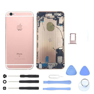 Rose Gold Back Housing Mid Frame Assembly with Parts iPhone 6S Plus A1634 A1687 - With Tool Kit - Housing Assembly