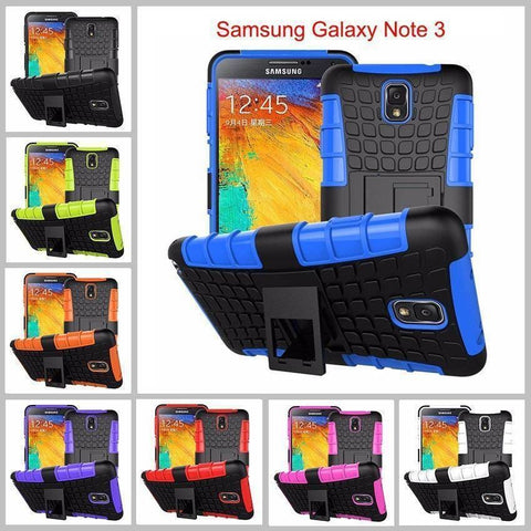 Image of Samsung Galaxy Note 3 Heavy Duty Armor Phone Case Cover with Stand - Cases
