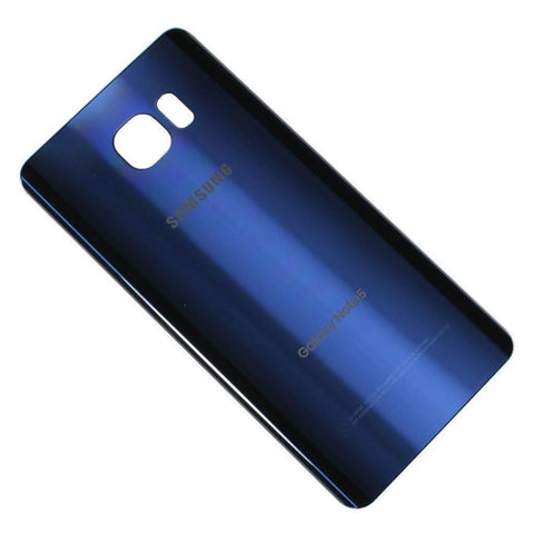 Samsung Galaxy Note 5 Rear Back Glass Battery Cover Door with Adhesive - Blue - Battery Covers