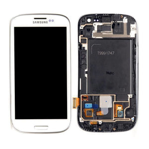 Samsung Galaxy S3 Touch Screen Digitizer LCD with frame - White - LCDs & Digitizers