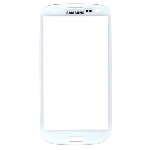 Samsung Galaxy S3 White Front Glass Lens with Adhesive and Free Tools - Front Glass