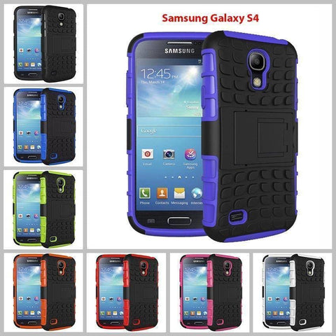 Image of Samsung Galaxy S4 Heavy Duty Armor Phone Case Cover with Stand - Cases