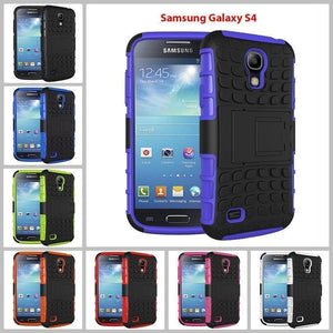 Samsung Galaxy S4 Heavy Duty Armor Phone Case Cover with Stand - Cases