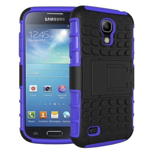 Image of Samsung Galaxy S4 Heavy Duty Armor Phone Case Cover with Stand - Purple - Cases