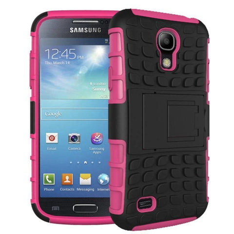 Image of Samsung Galaxy S4 Heavy Duty Armor Phone Case Cover with Stand - Rose - Cases
