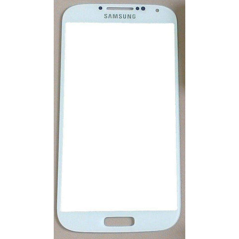 Samsung Galaxy S4 White Front Glass Lens with Adhesive and Free Tools - Front Glass