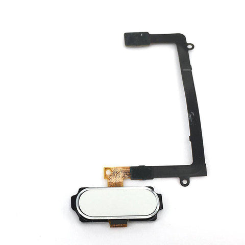 Image of Samsung Galaxy S6 Edge Home Button Flex Assembly - White - Home Button
