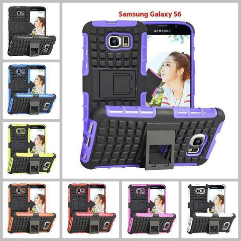 Samsung Galaxy S6 Heavy Duty Armor Phone Case Cover with Stand - Cases