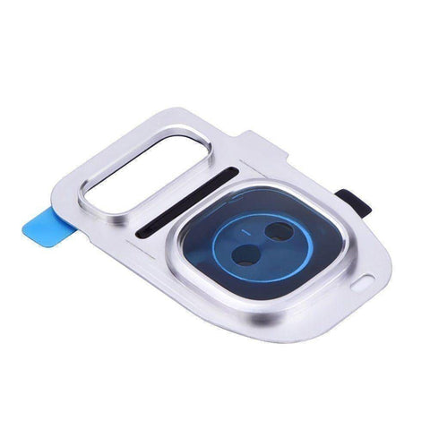 Image of Samsung Galaxy S7 S7 Edge Rear Camera Lens Glass Cover Bezel - White - Camera Lens Cover