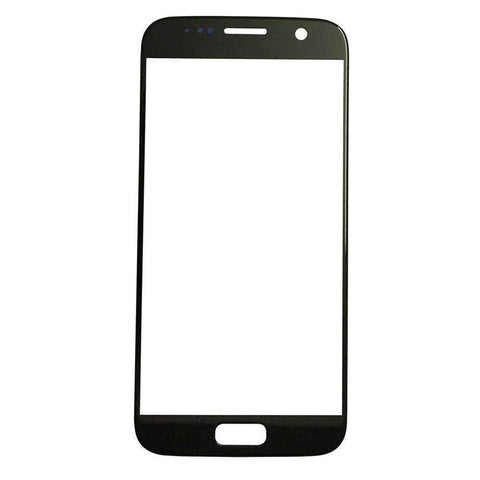 Image of Samsung Galaxy S7 Front Glass Lens with Adhesive - Black - Front Glass